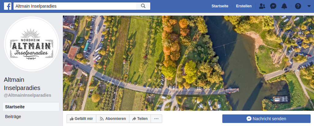 Altmain Inselparadies bei Facebook